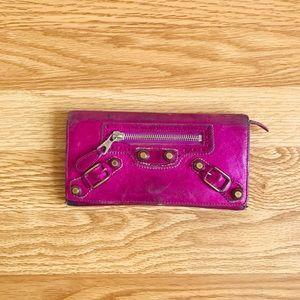 💯Balenciaga Arena continental wallet